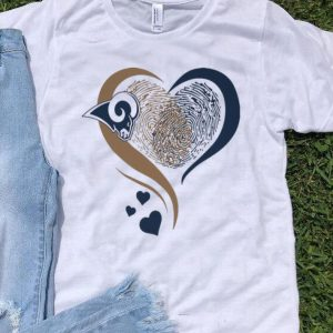 Los Angeles Rams Heart Fingerprint shirt