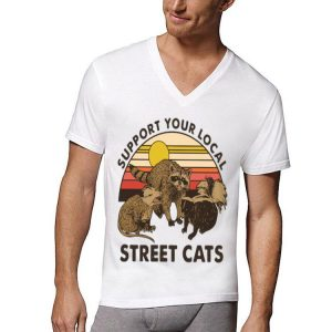 Racoon Support Your Local Street Cats Vintage shirt