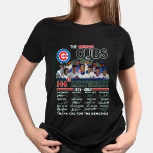 The Chicago Cubs 114th anniversary 1876 2020 thank you for the memories signatures shirt