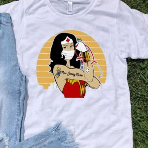 Vintage Wonder Woman Tattoos New Jersey Nurse Covid-19 shirt