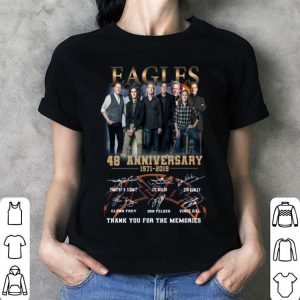 Eagles Band 48th Anniversary Thank You For The Memories Signatures shirt