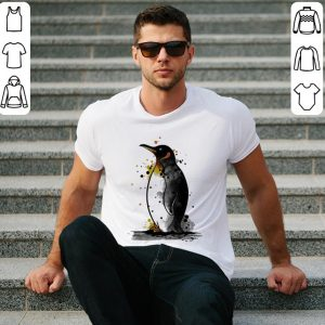 Penguin watercolor shirt