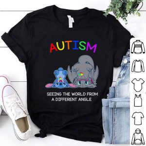 Stitch Toothless Autism seeing the world from a different angle shirt