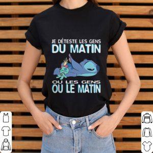 Stitch je deteste les gens du matin ou les gens ou le matin shirt 2