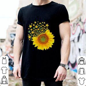 Sunflower Marijuana leaf Weed shirt