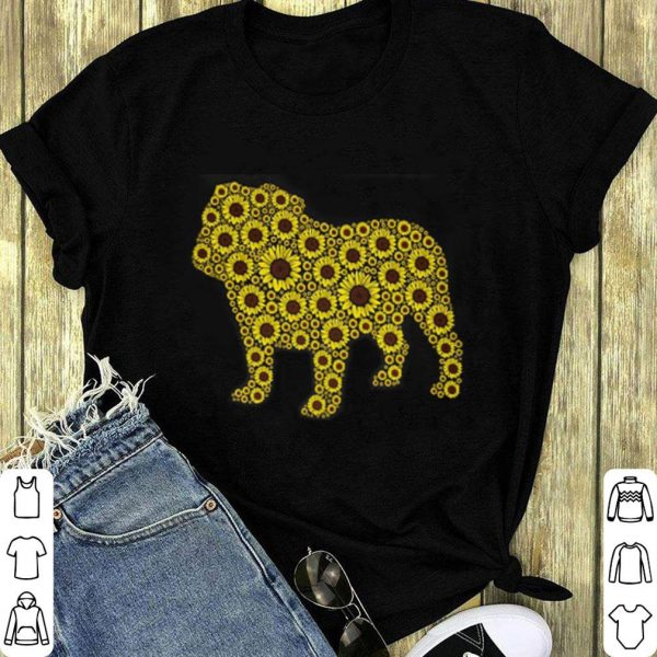 Sunflower and Bulldog lover shirt