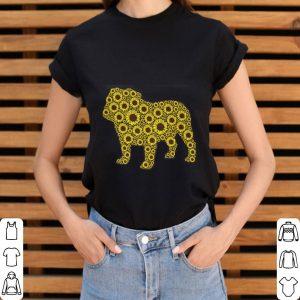 Sunflower and Bulldog lover shirt 2