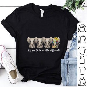 Sunflower peace sign Elephants It's ok to be a little different shirt