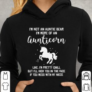 Unicorn i'm not an auntie bear i'm more of an aunticorn shirt 2