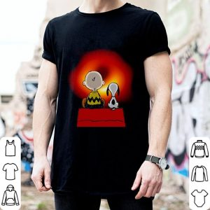 Snoopy and Charlie Brown Black Hole shirt