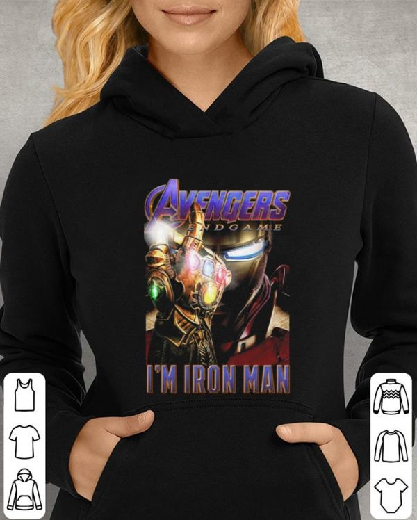 Avengers Endgame The Snap I'm Iron Man shirt