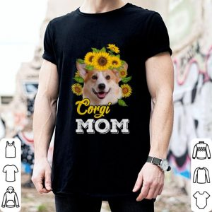 Corgi Mom sunflowers shirt