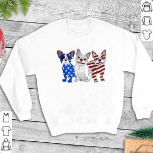French Bulldog Red white and blue American flag shirt