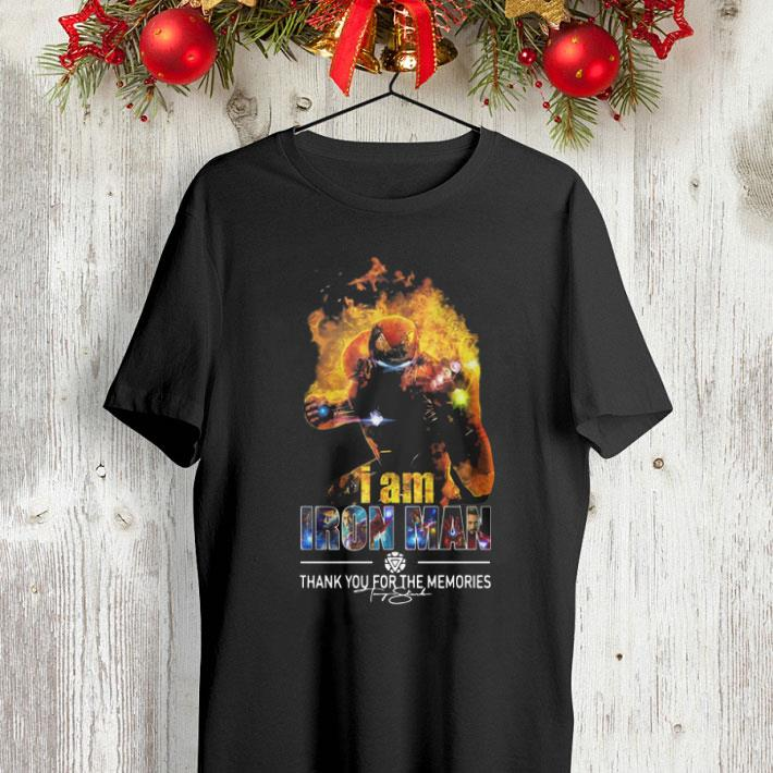 I Am Iron Man Thank You For The Memories Avengers Endgame shirt 4 - I Am Iron Man Thank You For The Memories Avengers Endgame shirt