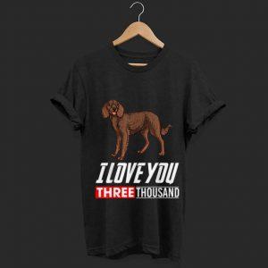 I Love You 3000 American Water Spaniel Dog shirt