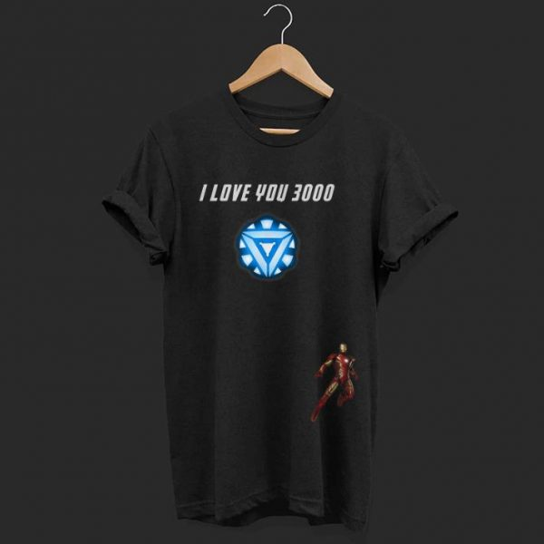 Iron man Arc reactor I Love You 3000 End game Marvel shirt
