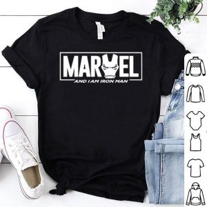 Marvel And I am Iron man face shirt