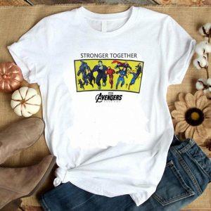 Marvel Avengers Endgame stronger together lineup shirt