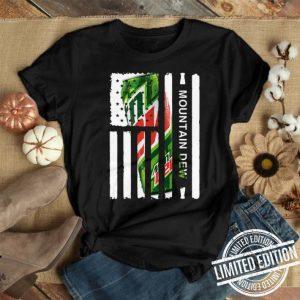 Mountain Dew American flag shirt