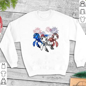 Turtle Red white and blue America flag shirt