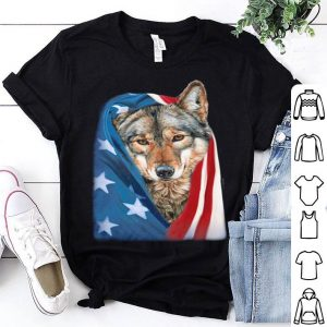 Wolf American flag july 4th independence day shirt