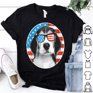 4th Of July Dog American Flag Dog Beagle shirt