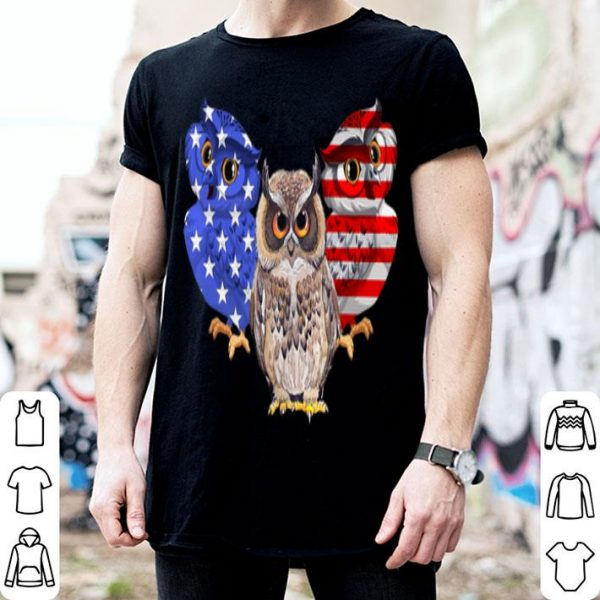 4th of July American Flag Owl shirt