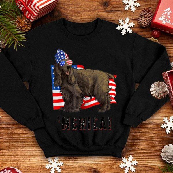 4th of July English Cocker Spaniel Dog Merica shirt