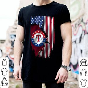 American Flag MLB Texas Rangers shirt