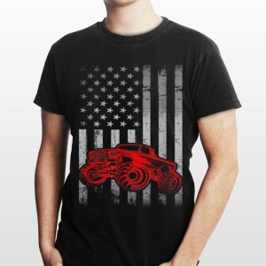 American Flag Patriotic Monster Truck Owner 4th Of July shirt