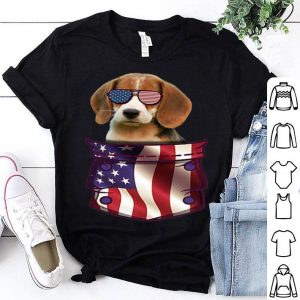 Beagle In Pocket American Flag 4th July American Flag shirt