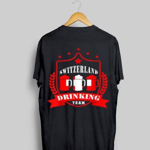 Beer Switzerland Drinking Team Casual Switzerland Flag shirt