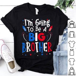 Big Brother 4th of July Pregnancy announcement American Flag shirt