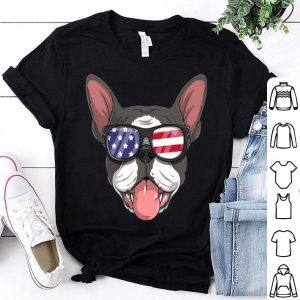 Boston Terrier Dog Patriotic 4th Of July American Flag shirt