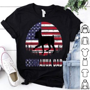 Chihuahua dad 4th Of July Father Day American Flag shirt