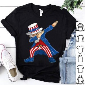 Dabbing Uncle Sam Usa 4th Of July Outfit Kids shirt