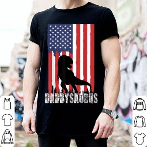 Daddysaurus American Flag Design Fathers Day shirt