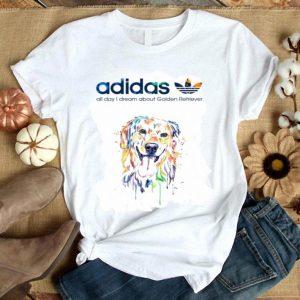 Dog adidas all day i dream about golden retriever shirt