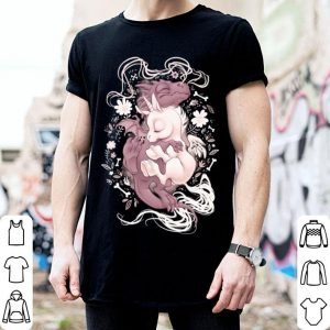 Flower dragon hugs unicorn shirt