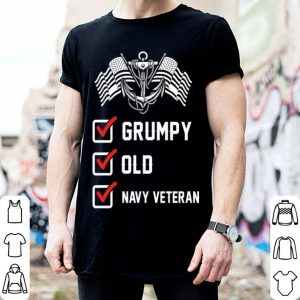Grumpy old navy veteran anchor shirt