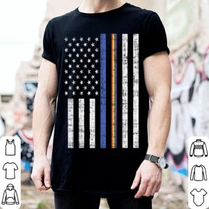 LGBT Thin Blue Line Rainbow American Flag Gay Police shirt