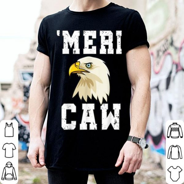 Love USA Mericaw Merica 4th Of July Bald Eagle American Flag shirt