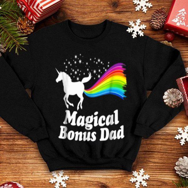 Magical Bonus Dad Unicorn Farting Rainbow shirt