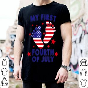 My First 4th Of July Baby Foot American shirt
