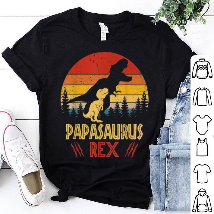 40fada94 Papasaurus Rex Dinosaur Happy Fathers Day shirt, hoodie, sweater ...