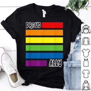 Proud Ally Pride Gay Lgbt Day Month Flag Rainbow shirt