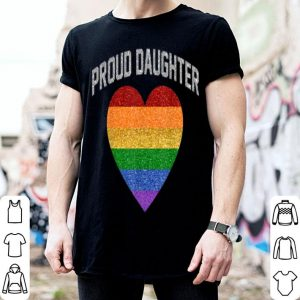 Proud Daughter Lgbt Rainbow Heart Gay Pride Month shirt