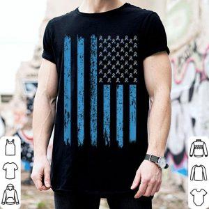 Ribbon American Flag Diabetes shirt