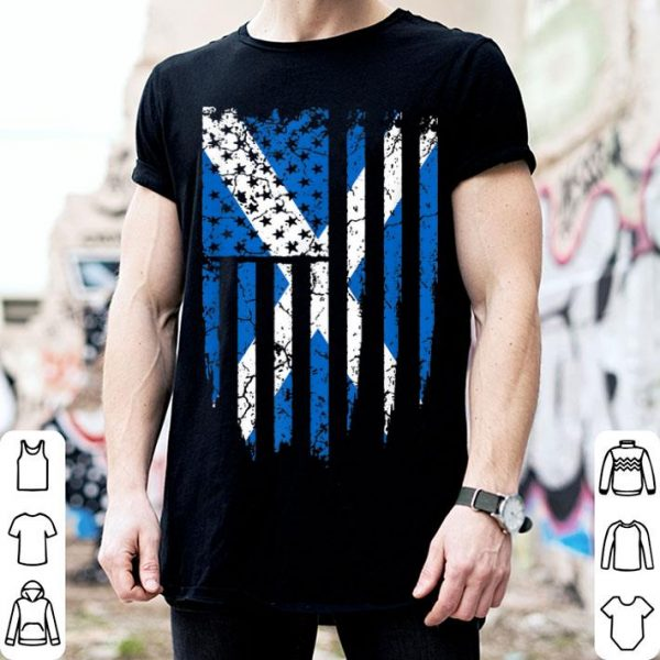 Scottish American Scotland & America Flag shirt