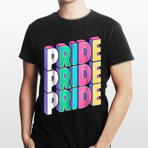 Triple Pride LGBT Gay Pride shirt